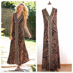 Soft Surroundings Tribal Serengeti Maxi Dress
